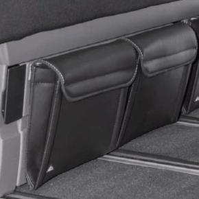 Utility für den Bettkasten im VW T6.1 / T6 / T5 California Beach, 2 Taschen für die Vorderseite