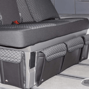 """Brandrup Utility bag for attachment to the side of the bed box in the VW T6.1 / T6 / T5 California Beach in the design """"Quadratic"""""""