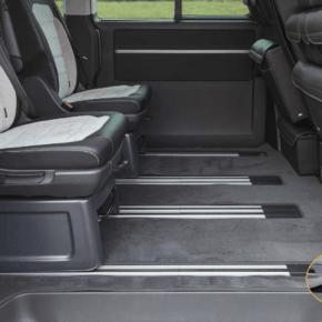 """Brandrup Teppich - Veloursteppich für den Fahrgastraum mit 2 Schiebetüren des VW T6.1 / T6 / T5 Multivan und Beach im Design """"Titanschwarz"""""""