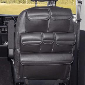 """Utility Taschen zur Anbringung an der Rückenlehne eines Sitzes im Fahrerhaus der VW T6.1 / T6 / T5 California Beach und Multivan im Design """"Mixed Dots"""""""