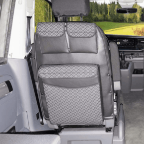 Brandrup Utility with MULTIBOX Maxi for the backrest in the VW T6.1 / T6 / T5 California Beach and Multivan Design Quadratic