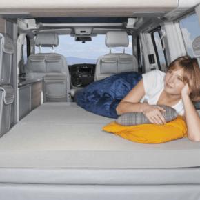 """iXTEND Allround Faltbett für VW T6.1 / T6 / T5 California (ohne Beach) als Kaltschaum-Verbund mit waschbarem Bezug im Design: """"Palladium"""""""