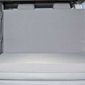 """iXTEND Allround folding bed for VW T6.1 / T6 / T5 California (without beach) as a cold foam composite with washable cover in the design: """"Palladium"""""""