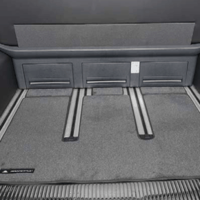 """Brandrup carpet (velor) for the rear loading space of the VW T6.1 / T6 / T5 Multivan and VW T6 / T5 California Beach from 2010 in the design """"titanium black"""""""
