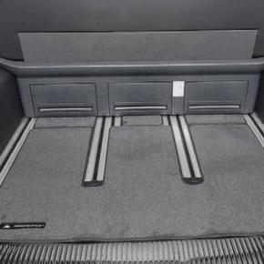 """Brandrup Teppich (Velours) für den Heckladeraum des VW T6.1 / T6 / T5 Multivan und VW T6 / T5 California Beach ab 2010 im Design """"Titanschwarz"""""""