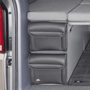 """Utility für VW T6.1 California Beach Staukasten vorne oder hinten, 2 Taschen im Design """"Leder Titanschwarz"""" - Wiest Online Shop"""