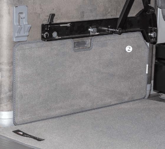 """Brandrup Veloursteppich für Laderaum des VW T6 / T5 California (ohne Beach) im Design """"Palladium"""""""
