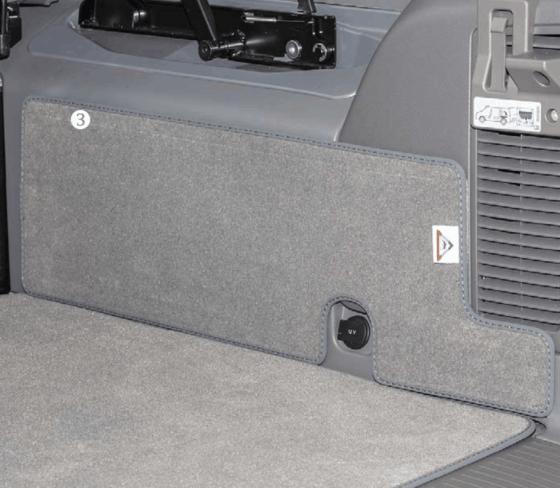 """Veloursteppich für Laderaum des VW T6 / T5 California (ohne Beach) im Design """"Palladium"""""""