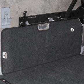 """Brandrup Schutzmatte - Veloursteppich für den Laderaum links des VW T6 / T5 California (ohne Beach) im Design """"Titanschwarz"""""""