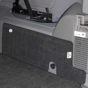 """Brandrup Schutzmatte - Veloursteppich für den Laderaum des VW T6.1 / T6 / T5 California (ohne Beach) im Design """"Titanschwarz"""""""