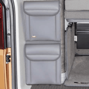 UTILITY 2 pockets for attachment to the rear of the wardrobe (under the flap) in the VW T6.1 / T6 / T5 California