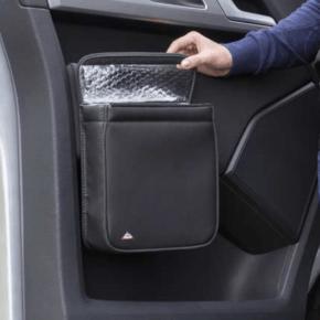 """Brandrup Multibox für die rechte Tür im VW T6 Fahrerhaus, ideal als Isoliertasche oder Abfallbehälter im Design """"Leder Titanschwarz"""""""