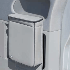 """Multibox für die Türen im VW T5 Fahrerhaus, ideal als Isoliertasche und/oder Abfallbehälter im Design """"Leder Palladium"""""""