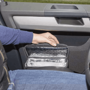 """Multibox for the doors in the VW T5 cab, ideal as an insulating bag and / or waste bin in the design """"Leather Palladium"""" - Wiest online shop"""