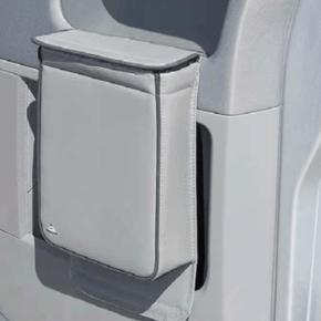 """Multibox für die linke Tür im VW T6 Fahrerhaus, ideal als Isoliertasche oder Abfallbehälter im Design """"Leder Palladium"""""""