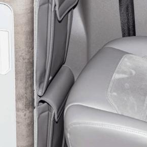 """Brandrup Utility Tasche zur Anbringung an der Seite des Spülschranks / Schrank im VW T6.1 / T6 / T5 hinter dem Fahrersitz im Design """"Leder Palladium"""""""
