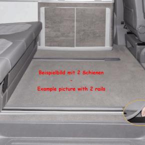 """Brandrup Teppich - Veloursteppich für Fahrgastraum der VW T6.1 California Modelle (ohne Beach) mit 3 Bodenschienen im Design """"Palladium"""""""