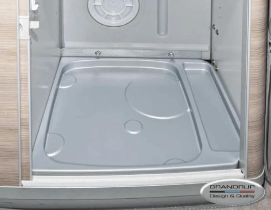 Brandrup toilet tub for Porta Potti 335 Qube in VW T6.1 / T6 / T5 California with detergent closet