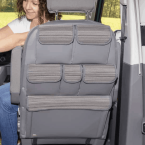 "Brandrup Utility bags for attachment to the back of a seat in the cab of the VW T6.1 / T6 / T5 California and Multivan in the design ""Mixed Dots"""