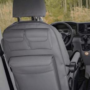 Utility mit Multibox Maxi für die Rückenlehne im Fahrerhaus des VW Grand California 600 und 680