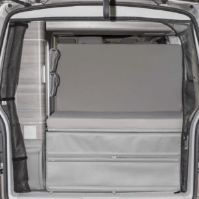 """Brandrup iXTEND Allround folding bed + iXTEND PAD for the VW T5 California (without beach) in the design """"Palladium"""""""