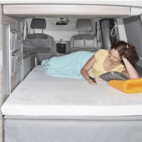 """Brandrup iXTEND Spannbettlaken für das iXTEND Faltbett im VW T6.1 Multivan und California Beach; Design """"Nicki-Plüsch"""""""