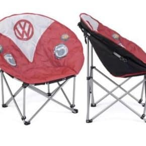 VW camping chair from the Service Offensive collection in VW T1 design, red