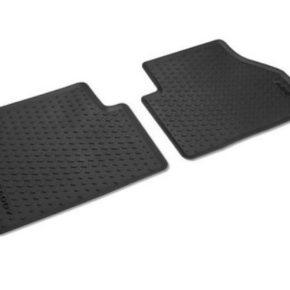 Set Fußmatten (Allwetter) für VW Caddy 5 mit Schriftzug - zweiteilig für hinten - Große Auswahl an Zubehör für VW Camper und Vans im Shop