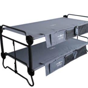 Doppel-Feldbett Disc-O-Bed XL mit Seitentaschen anthrazit