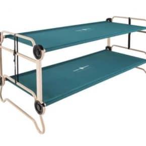 Doppel-Feldbett Disc-O-Bed XL mit Seitentaschen in grün- Das Disc-O-Bed XL ist das ultimative Luxusbett unter den Feldbetten