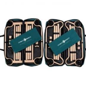 Doppel-Feldbett Disc-O-Bed XL mit Seitentaschen in grün- Das Disc-O-Bed XL ist leicht zu verpacken