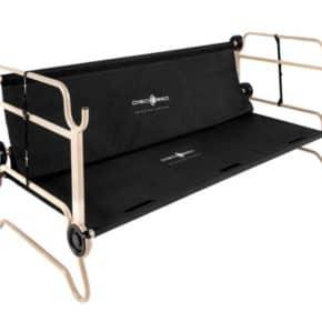 Doppel-Feldbett Disc-O-Bed XL mit Seitentaschen in schwarz