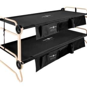 Doppel-Feldbett XL und 2XLDisc-O-Bed XL mit Seitentaschen in schwarz