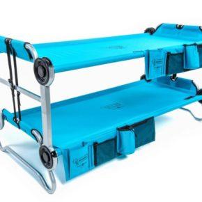 Kid-O-Bunk Doppelbett von Disc-O-Bed Campingbett in blau für Kinder zum aufbauen für leichten Transport