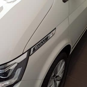 Stylish original VW Bulli lettering for left or right for VW T6.1 California and Multivan in black / chrome gloss design in the Wiest Online Shop