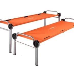 Disc-Bunk orange Doppel-Feldbett als einzelne Betten