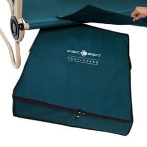 Disc-O-Bed Footlocker zur Aufbewahrung von Kleidung unter dem Feldbett, Farbe grün