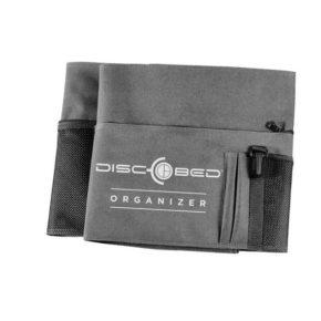 Seitentasche für das Sol-O-Cot in grau mit Klettbefestigung