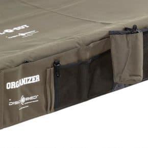 Seitentasche für das Sol-O-Cot in oliv mit Klettbefestigung