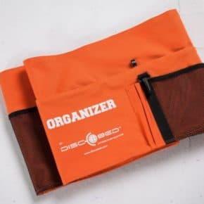 Zusätzliche Seitentasche mit Klettverschluss in orange für das Disc-Bed